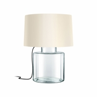Sonneman 4770.87K Grasso Contemporary Clear Glass w/ Black Silk Table Light