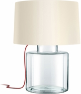 Sonneman 4770.87R Grasso Modern Clear Glass Table Lamp