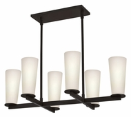 Sonneman 4926.32 High Line 6 Lamp 29 Inch Wide Island Lighting - Black Bronze