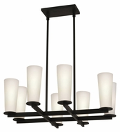 Sonneman 4928.32 High Line Black Bronze 8 Lamp Island Pendant Lighting Fixture