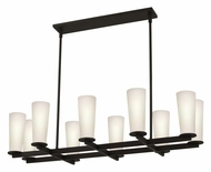Sonneman 4929.32 High Line 10 Lamp Black Bronze 39 Inch Long Pendant Island Lighting