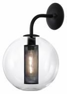 Sonneman 4931.97 Tribeca Contemporary 12 Inch Diameter Clear Glass Wall Light Sconce