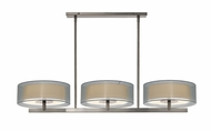 Sonneman 6001.13 Puri 3 Light 48 Inch Long Satin Nickel Island Light Fixture