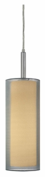 Sonneman 6006.13F Pur Satin Nickel 5 Inch Diameter Fluorescent Mini Pendant