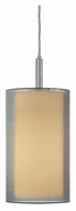 Sonneman 6007.13F Puri Medium 17 Inch Tall Satin Nickel Hanging Light Fixture