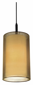 Sonneman 6007.51F Puri Contemporary Medium Black Brass 17 Inch Tall Pendant Lamp