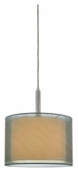 Sonneman 6008.13F Puri Fluorescent 10 Inch Diameter Satin Nickel Pendant Hanging Light