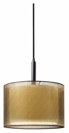 Sonneman 6008.51F Puri Black Brass Finish Fluorescent Modern Pendant Lighting