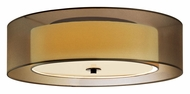 Sonneman 6013.51F Puri 16 Inch Diameter Small Flush Mount Ceiling Light - Black Brass