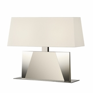 Sonneman 6104.35 Facet Banquette Modern Polished Nickel Finish 18 Tall Table Lamp Lighting