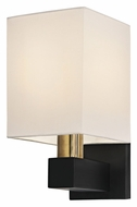 Sonneman 6120.43 Cubo Small 11 Inch Tall Natural Brass And Black Modern Wall Sconce