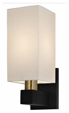 Sonneman 6122.43 Cubo Contemporary Large 14 Inch Tall Linen Shade Sconce Lighting