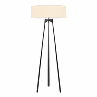 Sonneman 6170.25 Torii Contemporary Satin Black Finish 26  Wide Floor Lamp Light