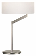 Sonneman 7082.13 Perch Satin Nickel Modern 23 Inch Tall Swing Arm Table Lamp