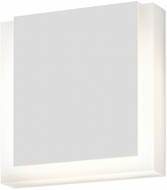 Sonneman 7214.98.WL SQR Contemporary Textured White LED Indoor/Outdoor Lighting Wall Sconce