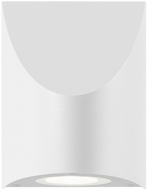 Sonneman 7222.98.WL Shear Contemporary Textured White LED Indoor/Outdoor Light Sconce