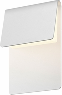 Sonneman 7230.98.WL Ply Contemporary Textured White LED Indoor/Outdoor Wall Sconce Light