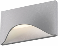 Sonneman 7236.74.WL Tides Contemporary Textured Gray LED Indoor/Outdoor Wall Sconce Lighting