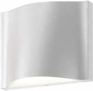 Sonneman 7239.98.WL Drift Contemporary Textured White LED Indoor/Outdoor Wall Sconce