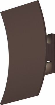 Sonneman 7260.72.WL Curved Shield Contemporary Textured White LED Outdoor Sconce Lighting