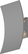 Sonneman 7260.74.WL Curved Shield Modern Textured White LED Exterior Light Sconce