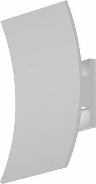 Sonneman 7260.98.WL Curved Shield Contemporary Textured White LED Outdoor Lighting Sconce