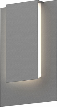 Sonneman 7264.74.WL Reveal Contemporary Textured Gray LED Outdoor Wall Sconce Lighting