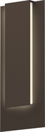 Sonneman 7265.72.WL Reveal Contemporary Textured Bronze LED Outdoor Lighting Wall Sconce