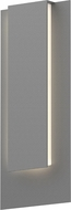 Sonneman 7265.74.WL Reveal Modern Textured Gray LED Exterior Wall Lighting Sconce