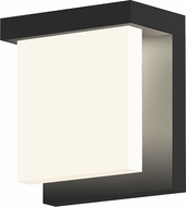 Sonneman 7275.25 Glass Glow� Contemporary Satin Black LED Outdoor Wall Light Fixture