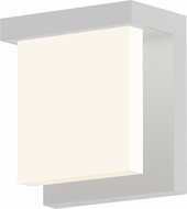 Sonneman 7275.98.WL Glass Glow� Modern Textured White LED Exterior Wall Sconce Lighting