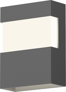 Sonneman 7280.74.WL Band Modern Textured Gray LED Exterior Wall Light Sconce