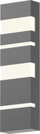 Sonneman 7287.74.WL Jazz Notes Contemporary Textured Gray LED Outdoor Lighting Sconce