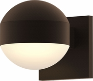 Sonneman 7300.DC.DL.72.WL REALS Modern Textured Bronze LED Exterior Wall Lighting Sconce