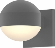 Sonneman 7300.DC.DL.74.WL REALS Contemporary Textured Gray LED Outdoor Wall Sconce Lighting