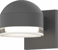 Sonneman 7300.DC.FH.74.WL REALS Modern Textured Gray LED Exterior Wall Lighting Fixture