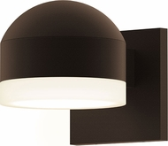 Sonneman 7300.DC.FW.72.WL REALS Modern Textured Bronze LED Exterior Wall Sconce Light