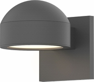 Sonneman 7300.DC.PL.74.WL REALS Modern Textured Gray LED Exterior Sconce Lighting