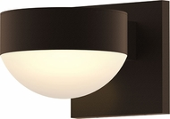 Sonneman 7300.PC.DL.72.WL REALS Modern Textured Bronze LED Exterior Lighting Sconce