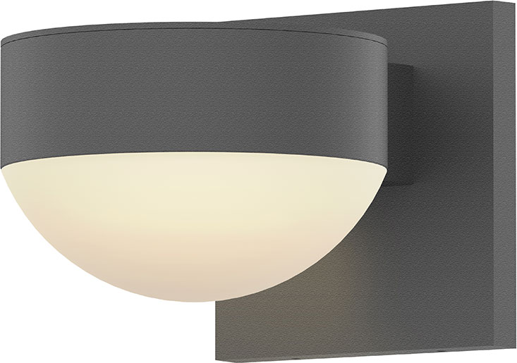 Wl Reals Contemporary Textured Gray Led Outdoor Lamp Sconce Son 7300 Pc Dl 74