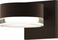 Sonneman 7300.PC.FH.72.WL REALS Contemporary Textured Bronze LED Outdoor Wall Light Fixture