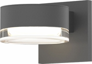 Sonneman 7300.PC.FH.74.WL REALS Modern Textured Gray LED Exterior Lighting Wall Sconce