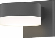 Sonneman 7300.PC.FW.74.WL REALS Contemporary Textured Gray LED Outdoor Wall Mounted Lamp