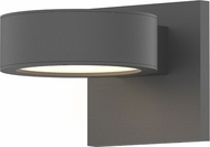 Sonneman 7300.PC.PL.74.WL REALS Modern Textured Gray LED Exterior Wall Light Sconce