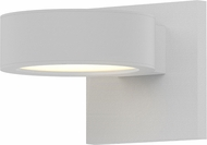 Sonneman 7300.PC.PL.98.WL REALS Contemporary Textured White LED Outdoor Wall Sconce Light