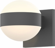 Sonneman 7302.DL.DL.74.WL REALS Contemporary Textured Gray LED Outdoor Wall Lamp