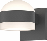 Sonneman 7302.DL.FW.74.WL REALS Contemporary Textured Gray LED Outdoor Wall Sconce Lighting