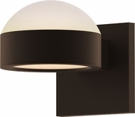 Sonneman 7302.DL.PL.72.WL REALS Contemporary Textured Bronze LED Outdoor Lighting Wall Sconce