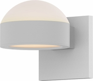 Sonneman 7302.DL.PL.98.WL REALS Contemporary Textured White LED Outdoor Wall Sconce Lighting