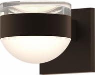 Sonneman 7302.FH.DL.72.WL REALS Modern Textured Bronze LED Exterior Wall Mounted Lamp